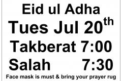 ICJV Eid ul Adha Salah 2021